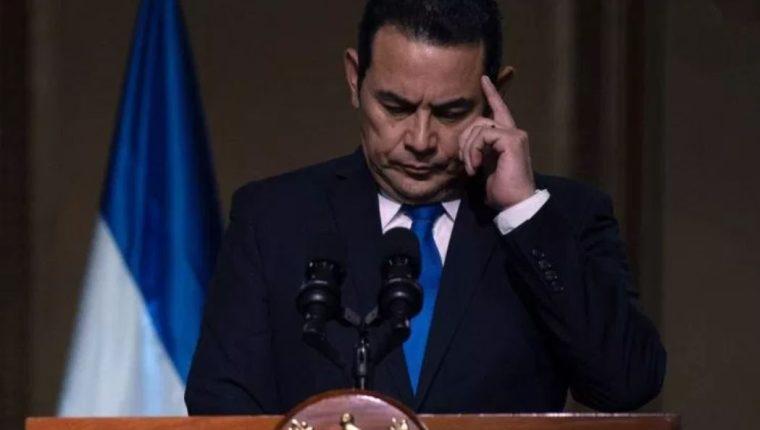 El presidente Jimmy Morales es señalado de favorecer la corrupción. (Foto Prensa Libre: Hemeroteca PL)