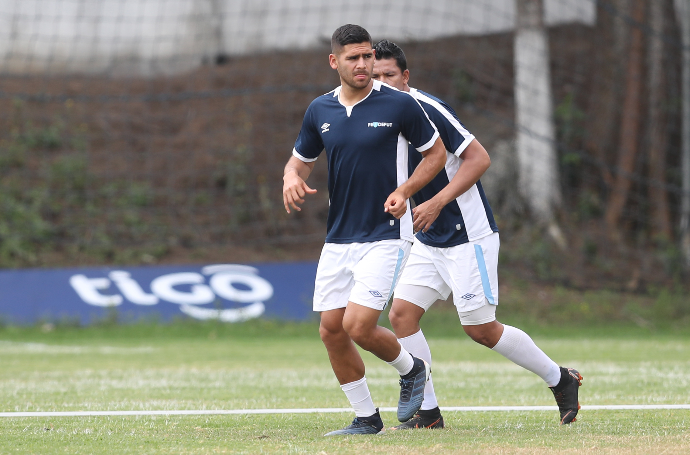 El defensa José Carlos Pinto será uno de los hombres que enfrentarán a Costa Rica. (Foto Prensa Libre: Francisco Sánchez).