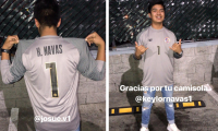 Josué Velásquez, aficionado a quien Keylor Navas le regaló su sudadero al finalizar el amistoso Guatemala vs Costa Rica. (Foto Prensa Libre: Cortesía Josué Velásquez)