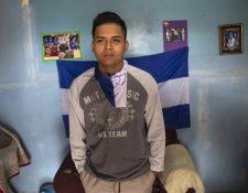 El estudiante nicaragüense Jorge Zapata . Foto: Prensa Libre: EFE