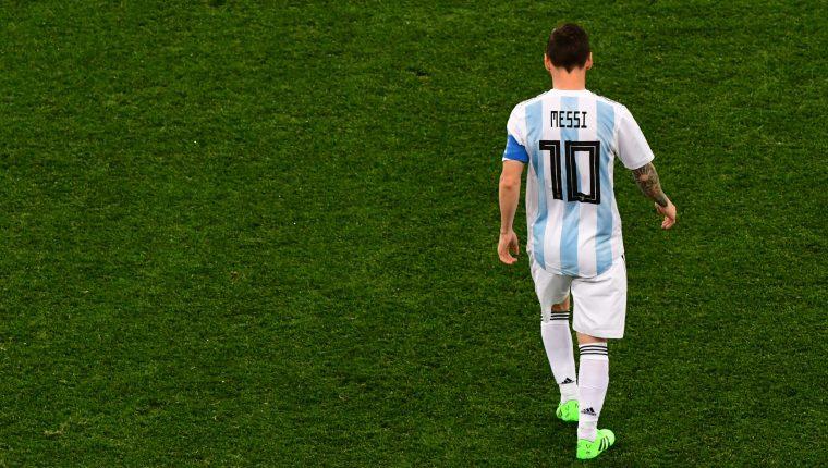 El delantero argentino Lionel Messi no juega con Argentina desde el Mundial de Rusia. (Foto Prensa Libre: Hemeroteca PL)