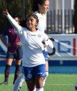 La futbolista guatemalteca marcó su tercer gol con la camisola del Zaragoza CFF en su primer torneo en el extranjero. (Foto Prensa Libre: Cortesía)