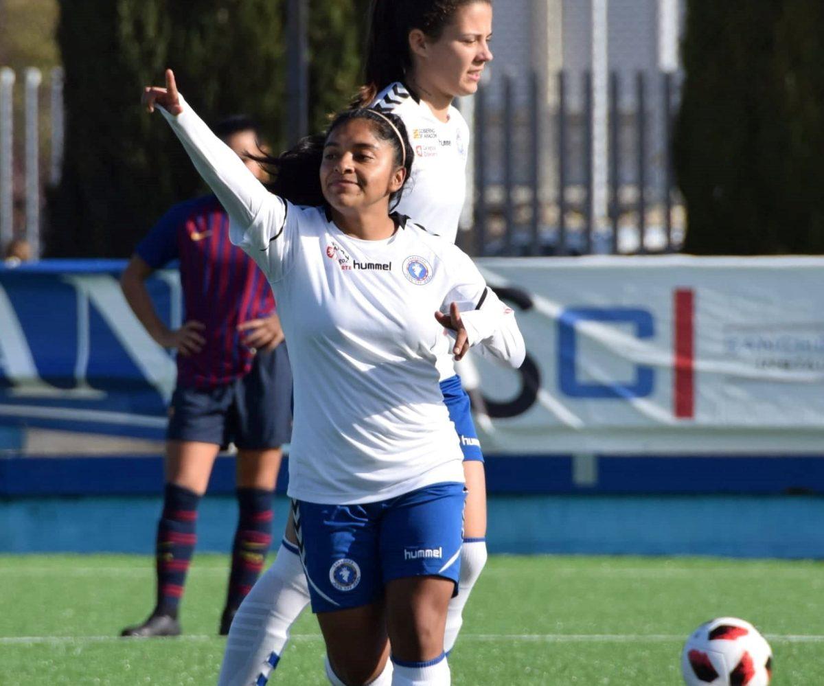 Madelyn Ventura anota en el triunfo del Zaragoza que sigue líder en la Segunda División de España