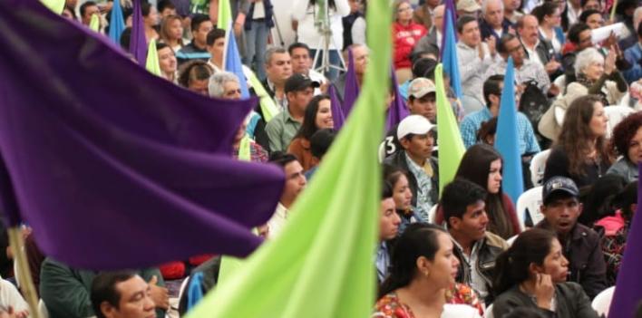 El partido Semilla ha efectuado distintas actividades en los últimos días. (Foto Prensa Libre: @msemillagt).