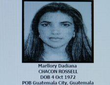 La guatemalteca Marllory Chacón Rossell fue condenada por dirigir una organización de narcotráfico y lavado de dinero con operaciones en América Central y Sudamérica. (Foto Prensa Libre: Hemeroteca PL)