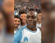Mario Balotelli celebró su gol frente al Saint-Étienne con un video en instagram. (Foto Prensa Libre: @mb459)
