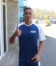 Marvin Ceballos a su llegada al Proyecto Goal para unirse al entrenamiento de la Selección de Guatemala. (Foto Prensa Libre: Carlos Vicente)