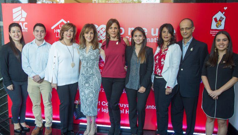 Personeros de BAC Credomatic y la Fundación Infantil Ronald McDonald, presentaron la campaña  Un hogar lejos del hogar