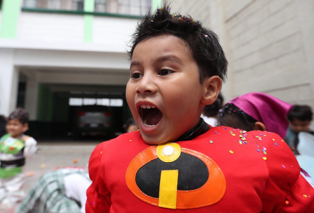 La emoción era visible en los rostros de los niños.