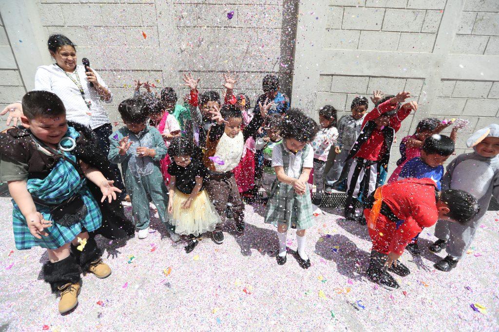 Con mucha emoción los niños participaron.