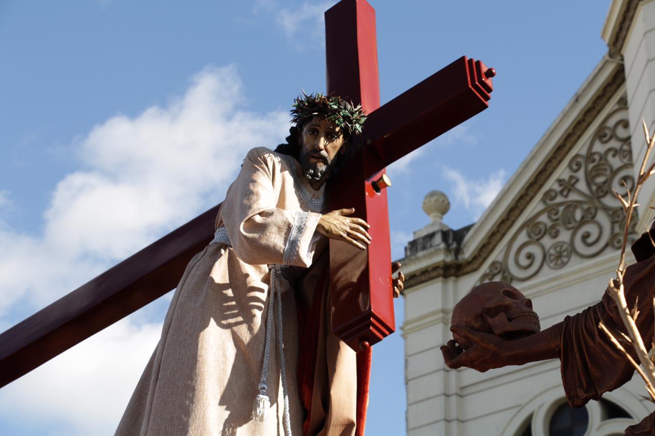 La procesión de Jesús de la Justicia es considerada la primera de la Cuaresma en Guatemala. (Foto Prensa Libre: Juan Carlos Pérez.)