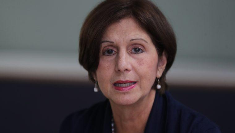 Maria Teresa Romero, representante del presidente Juan Guaidó en Guatemala. (Foto Prensa Libre: Érick Ávila)