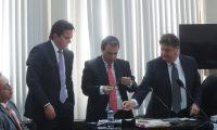 Luis Rodrigo Arenas, y Andrés Botran Briz, en una de las audiencias en el Juzgado de Mayor Riesgo D. (Foto Prensa Libre: Hemeroteca PL)