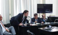 Audiencia en etapa intermedia por financiamiento electoral no registrado acusados, Luis Rodrigo Arenas, AndrŽs Botran Briz, en el juzgado D de mayor riesgo   Fotograf'a. Erick Avila:                     11/03/2019