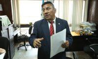 Pablo Xitumul, juez del Tribunal de Mayor Riesgo C .                                                                                            Fotograf'a Esbin Garcia 13-03- 2019.