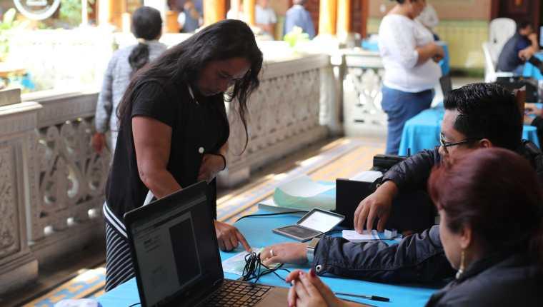 El padrón electoral aumento alrededor de mil personas sobre todo las que están registradas en Estados Unidos. (Foto Prensa Libre: Hemeroteca PL)