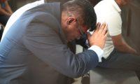 La jueza Claudette Dom'nguez otorg— arresto domiciliario al coronel Juan Chiroy, despuŽs de haber permanecido junto a ocho soldados en la  en la prisi—n Mariscal Zavala, acusados  por el enfrentamiento armado en la Cumbre de Alaska ocurrido en 2012.                                                                                            Fotograf'a Esbin Garcia 25-03- 2019.