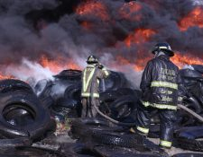 En horas de la mañana se registró un incendio en zona 3 donde se consumieron aproximadamente 1000 llantas