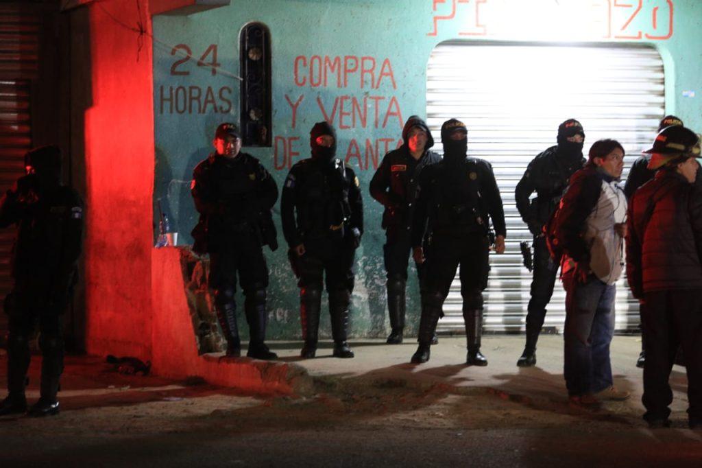 Fuerzas de seguridad también fueron trasladadas a Nahuala, Sololá. Foto Prensa LIbre: Carlos Hernández Ovalle