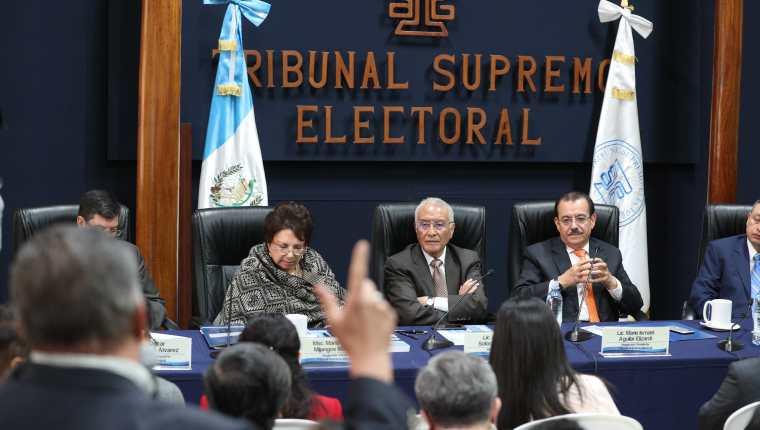 Magistrados del TSE condenaron el asesinato del presidente de la junta electoral municipal de San Jospe Acatempa, Jutiapa. (Foto Prensa Libre: Hemeroteca PL)