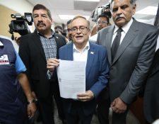 Mauricio Radford y Abundio Maldonado, binomio presidencial del partido Fuerza, pidió el amparo el 21 de marzo último.  (Foto Prensa Libre: Hemeroteca PL)