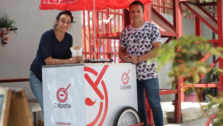 Muguette Pellecer y Marcos de León son deportistas pero también se lanzaron al emprendimiento con Crêpette, (Foto, Prensa Libre: Carlos Hernández Ovalle).