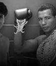 Léster Martínez y Ricardo Mayorga en el afiche que promociona la pelea entre ambos. (Foto Prensa Libre: Redes)