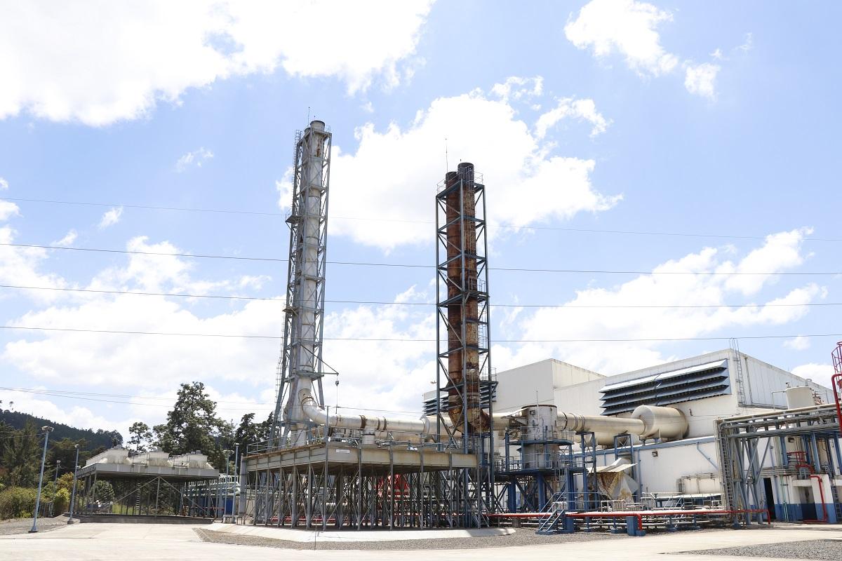 Una de las áreas de la planta generadora de energía eléctrica en Chimaltenango. (Foto Prensa Libre: Julio Sicán).