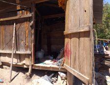 Lugar donde fue localizado unos de los cadáveres en Uspantán, Quiché. (Foto Prensa Libre: Héctor Cordero).