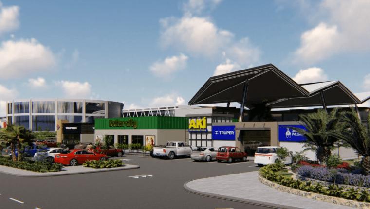 Así será la nueva fase del centro comercial La Trinidad en Coatepeque, Quetzaltenango. (Foto Prensa Libre: Cortesía)