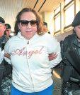 La magistrada Blanca Stalling luego de ser capturada en una abarrotería de la zona 9, el 8 de febrero del 2017.  (Foto Prensa Libre: Hemeroteca PL)