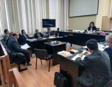 Audiencia de apertura a debate contra Rodrigo Arenas y Andrés Botrán en el Juzgado de Mayor Riesgo D, que dirige Erika Aifán. (Foto Prensa Libre: Hemeroteca PL)