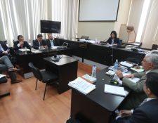 En el Juzgado de Mayor Riesgo D, a cargo de Erika Aifán, se reanudó la audiencia intermedia a Rodrigo Arenas y Andrés Botrán, por financiamiento electoral. (Foto Prensa Libre: Érick Ávila)