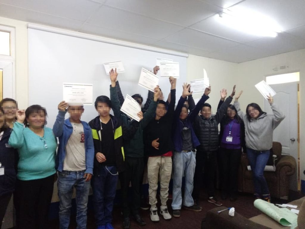 Esto hizo Xelapan con 11 adolescentes de la Secretaría de Bienestar Social