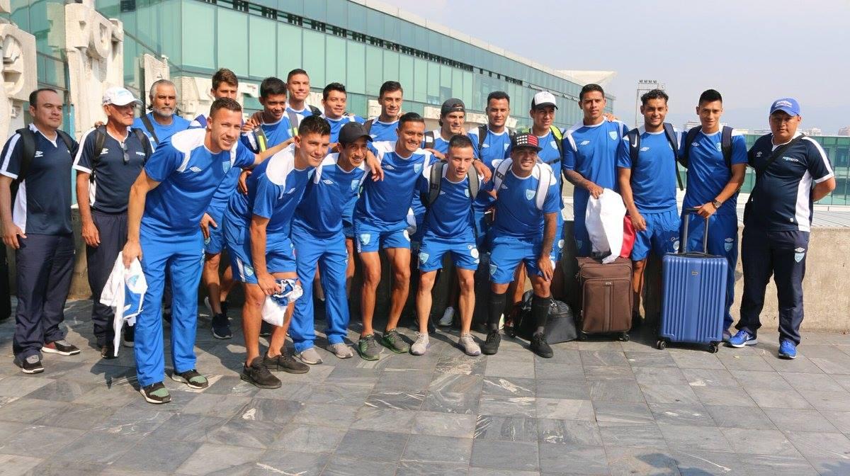 La Selección de Guatemala viajó este lunes a Estados Unidos para enfrentar a El Salvador. (Foto Cortesía Fedefut).