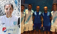 Ana Lucía Martínez, seleccionada nacional de futbol se mostró inconforme porque ninguna seleccionada estuvo en la presentación del nuevo uniforme de la Bicolor. (Foto Prensa Libre: Hemeroteca PL)