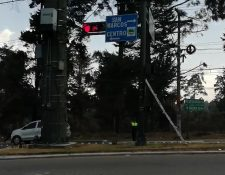 Los semáforos fueron instalados en enero de 2018 pero funcionaron hasta este año. (Foto Prensa Libre: María Longo)