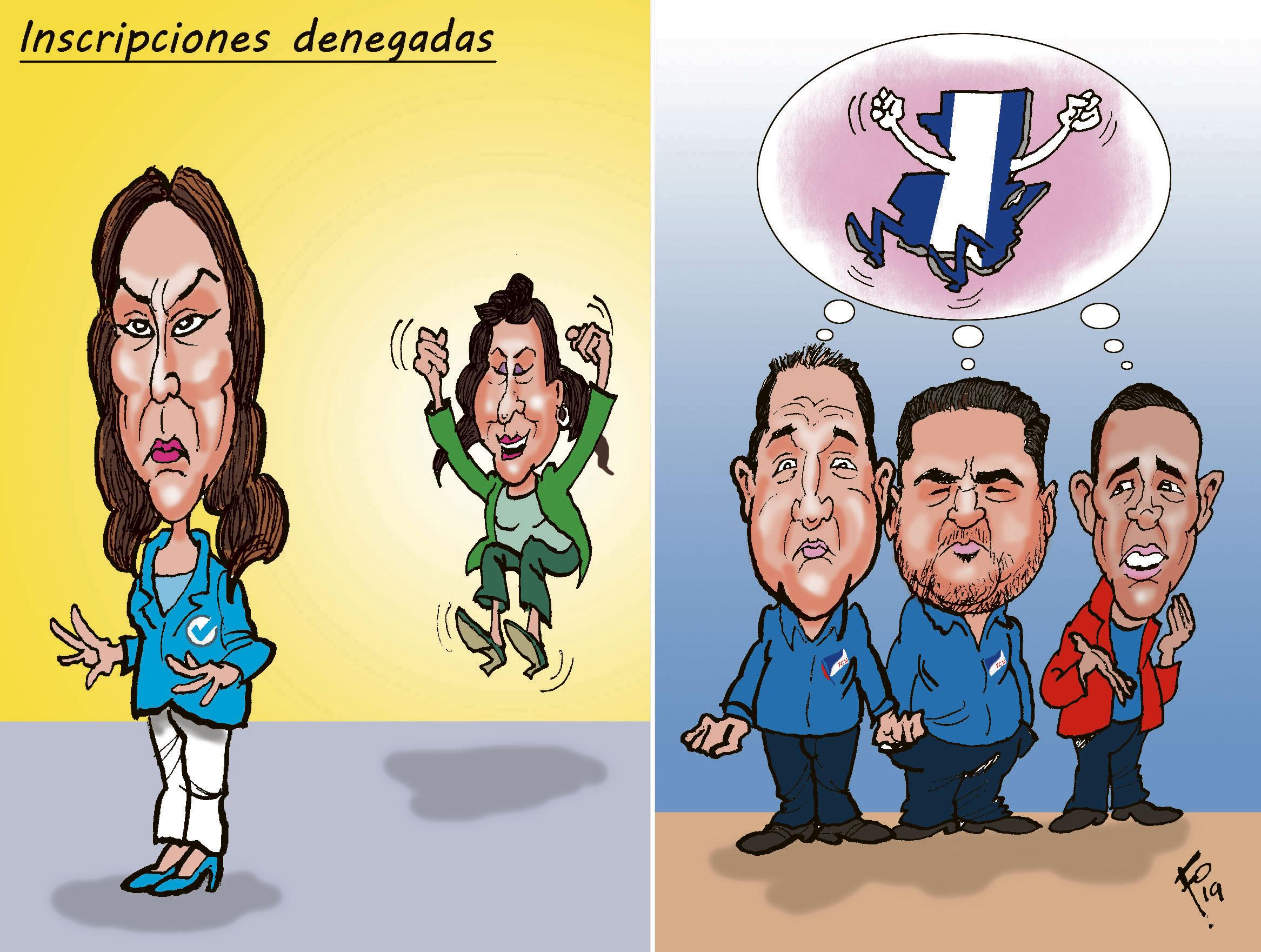 Inscripciones denegadas parra Zury Ríos y varios candidatos a diputado.