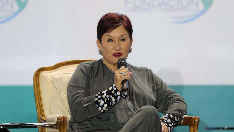 Thelma Aldana, candidata a la presidencia por el Movimiento Semilla.  (Foto Prensa Libre: Hemeroteca PL)