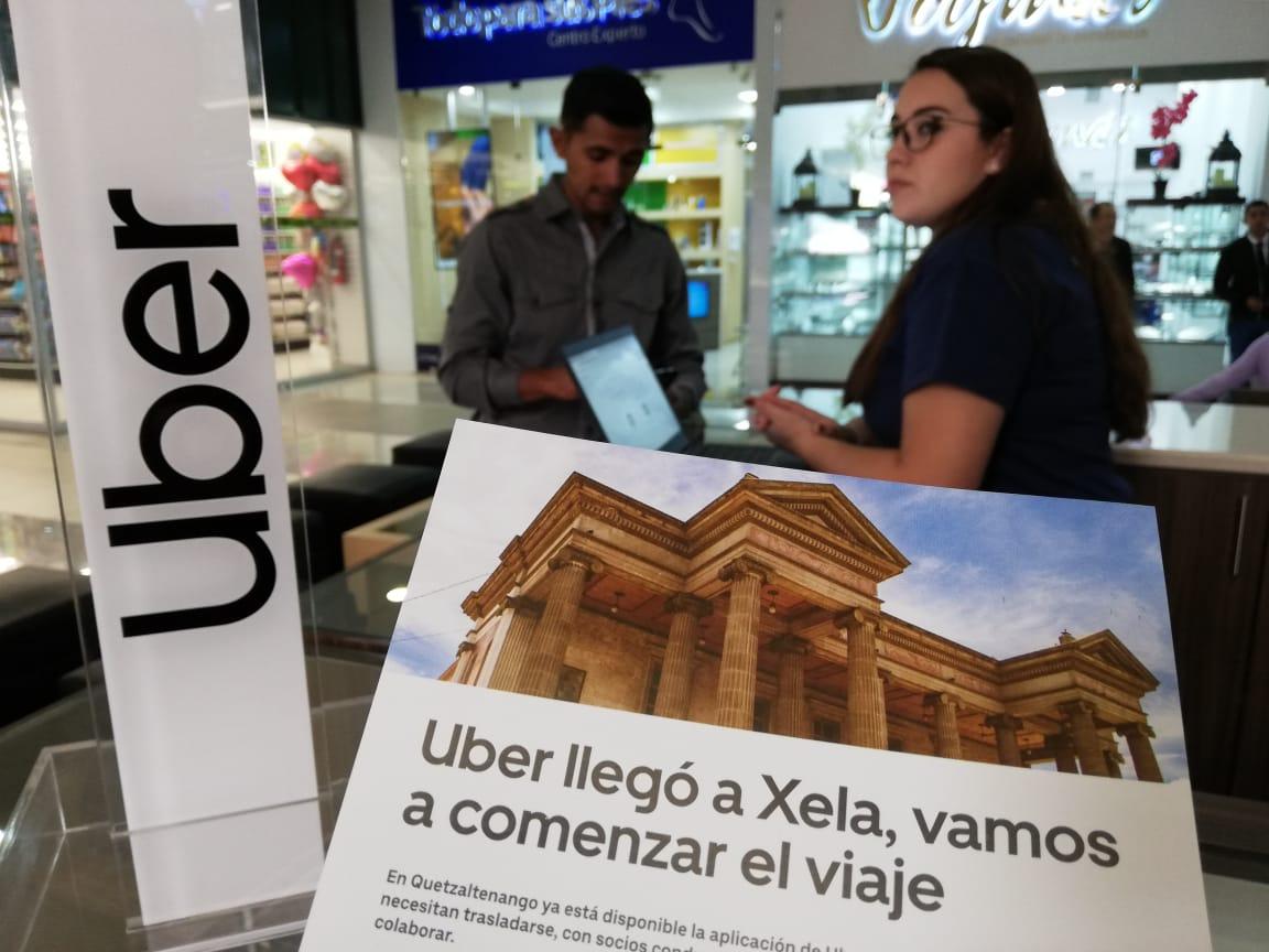 Quetzaltenango es la tercera ciudad en el país en la que Uber presta el servicio. En 2016 la plataforma de viajes comenzó operaciones en la capital. (Foto Prensa Lilbre: Mynor Toc)