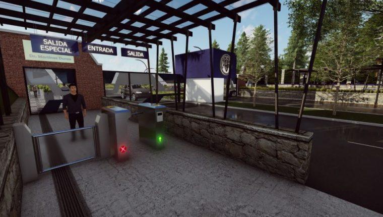 Molinetes digitales funcionarán en los accesos a la Usac en zona 12, incluso, funcionará un detector de proximidad. (Foto Prensa Libre: Cortesía)