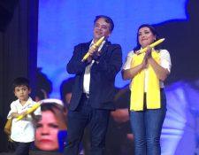 Edwin Escobar y Blanca Alfaro fueron proclamados por el partido Prosperidad Ciudadana (Foto Prensa Libre: Francisco Martínez)