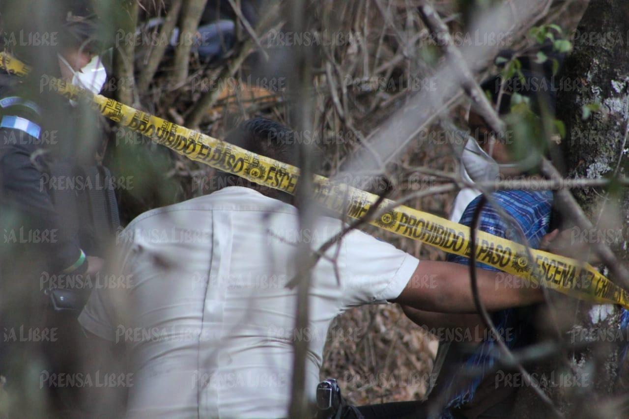 Lugar del hallazgo del cadáver de la británica Catherine Shaw, en un cerro de San Juan La Laguna.  (Foto Prensa Libre: cortesía Lucho Hernández)