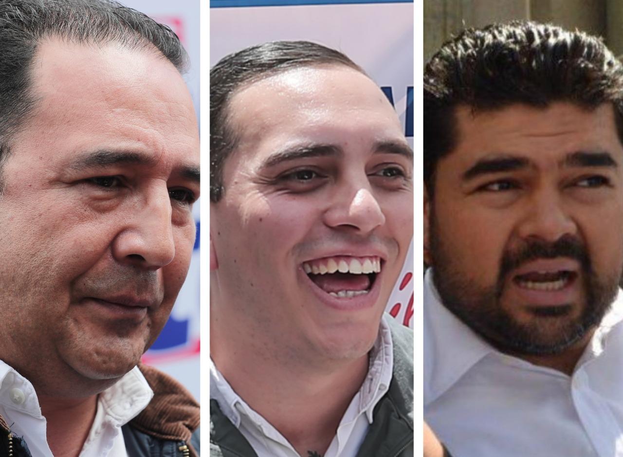 Samuel Morales (izquierda), Manuel Giordano (centro) y Jafeth Cabrera Cortez, aspiraban a una diputación por el partido oficialista. (Foto: Hemeroteca PL)