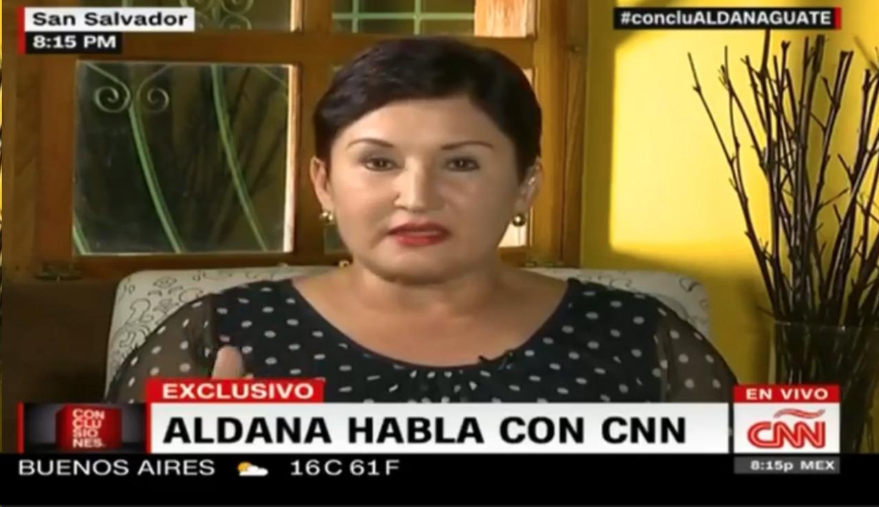 Thelma Aldana, en entrevista este martes con el programa Conclusiones, de CNN.