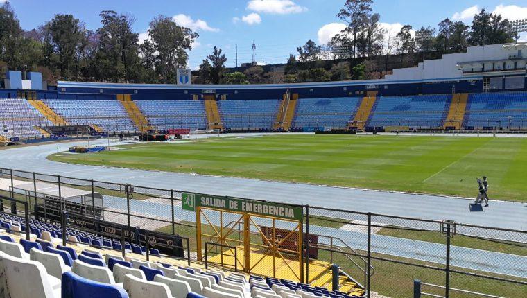 El estadio Doroteo Guamuch Flores vestirá sus mejores galas para el partido amistoso Guatemala vs Costa Rica. (Foto Prensa Libre: Jorge Ovalle)