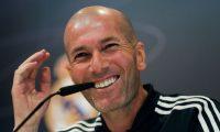 GRAF2408. MADRID, 30/03/2019.- El entrenador del Real Madrid, Zinedine Zidane, durante la rueda de prensa que ha ofrecido en la Ciudad Deportiva de Valdebebas para hablar del partido de Liga de mañana frente al Huesca. EFE/Juanjo Martín