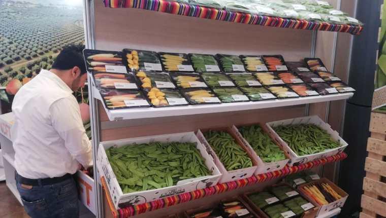 Minivegetales son algunos de los productos que llaman la atención de compradores internacionales durante el Agritrade 2019. (Foto Prensa Libre: Urías Gamarro)