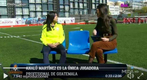 Ana Lucía Martínez, durante la entrevista con Sandra Díaz Arcas. (Foto Prensa Libre: Twitter)