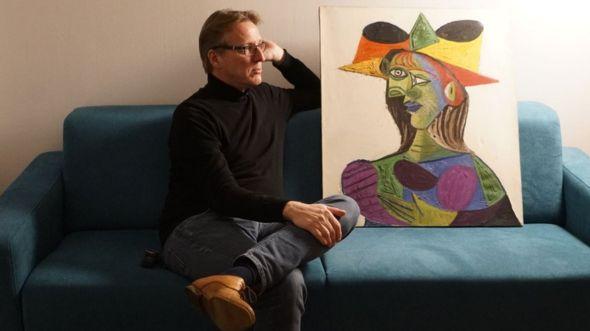 Arthur se pasó cuatro años buscando el retrato de Picasso. TETTEROO